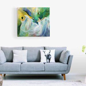 Store malerier i stuen