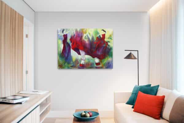 Maleri i den lille lejlighed