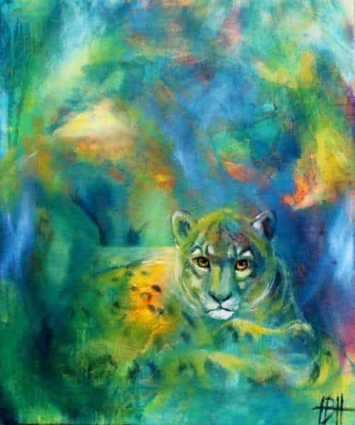 Maleri af leopard - malerier af vilde dyr