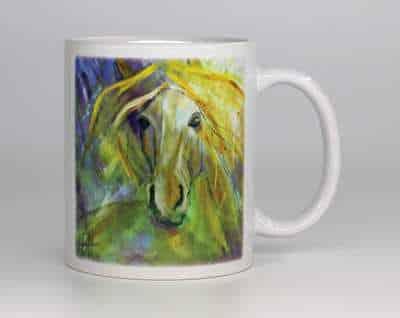 kunstkrus med hestemotiv