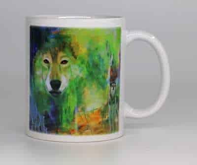kunstkrus med ulv