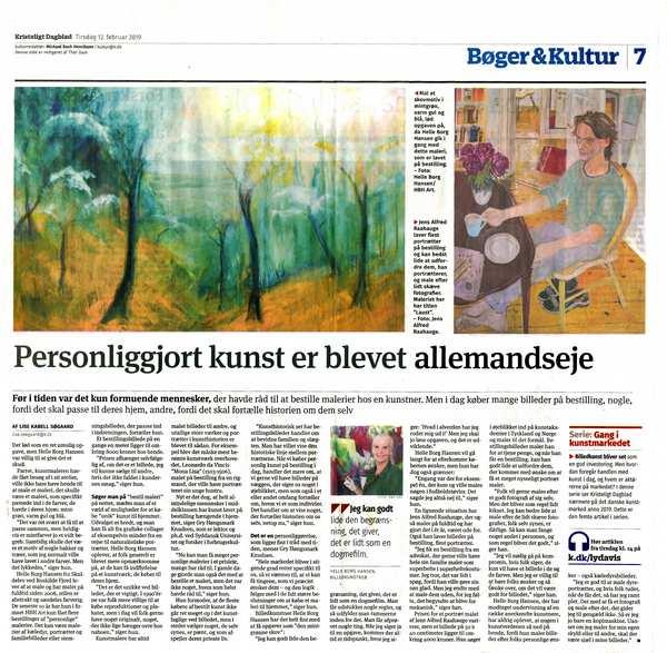 Maleri på bestilling i pressen