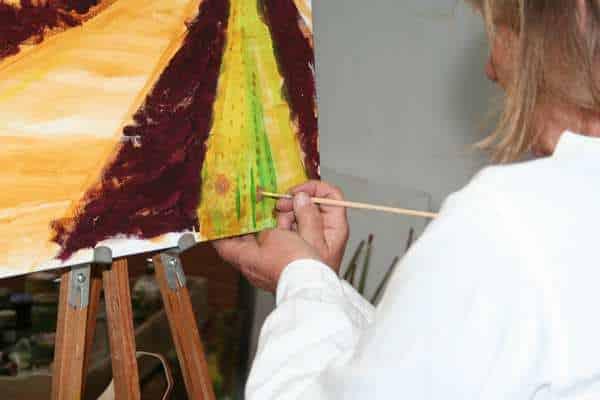 Kursist på malekursus