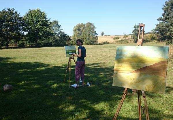 Lær at male ude i naturen