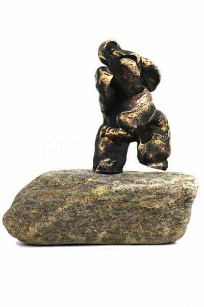 Danse-bamse - figur i bronze