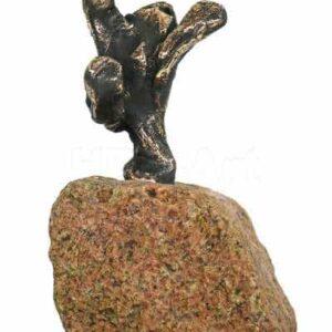 figur i bronze af glæde