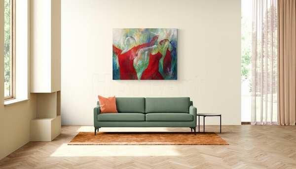 Stort maleri på stor væg