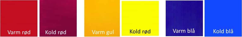 Hvad er varme og kolde farver
